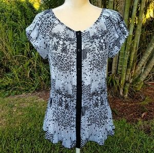 Signature by Larry Levine Short Sleeve Blouse
